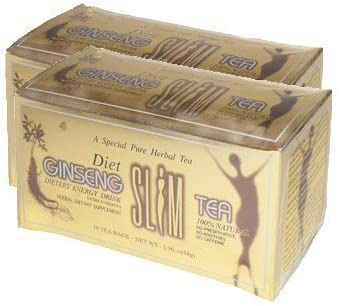 Diet Ginseng Slim Tea for Weight Loss, Extra Strength, 3g X 18bags 1.90 Oz Pack of 2