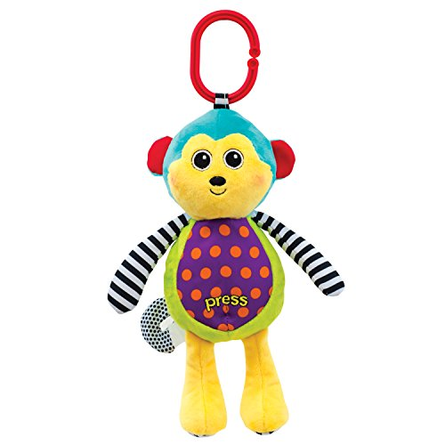 Sassy Sound and Light Attachable Monkey Toy  (colors may (Sassy Monkey)