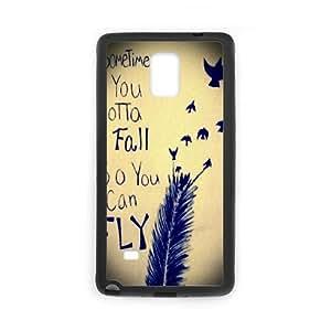 LSQDIY(R) Sometimes You Gotta Fall Samsung Galaxy Note 4 Personalized Case, Customised Samsung Galaxy Note 4 Case Sometimes You Gotta Fall