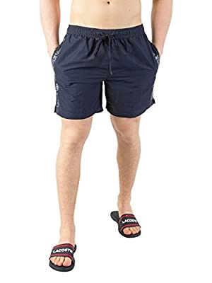 Calvin Klein Men's Side Stripe Swim Shorts, Blue