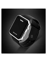 Unisex Simple Disign LED Digital Watch for Men, Women Sliver