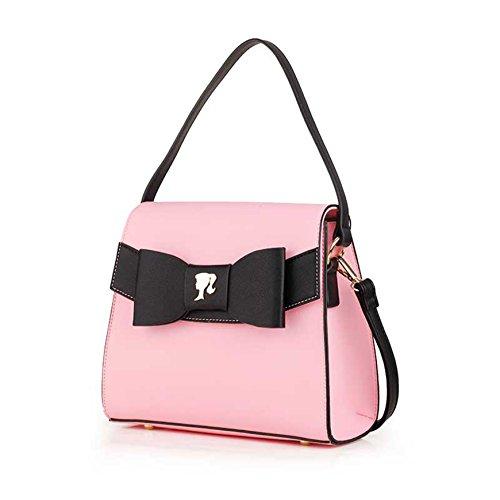 Barbie BBFB540 Bolso de mano con un lazo negro Bloso bandorela dulce para chica fucsia
