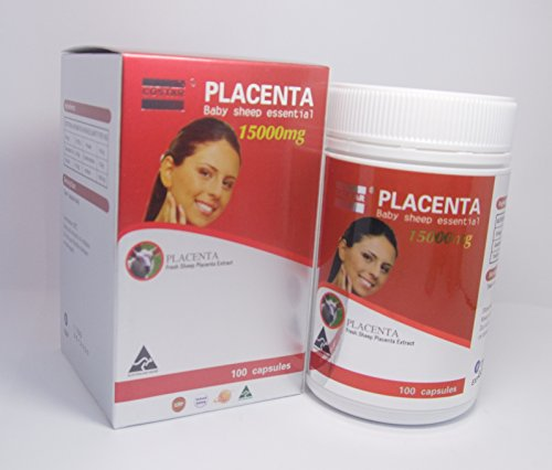 Costar Sheep Placenta 15000mg 100 Capsules Australian Made Baby Sheep Essential by Costar (Image #1)