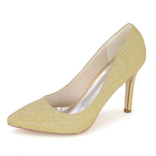 SoiréE Color Soie De Chaussures L Et Pointue Noces yellow De Large YC Yards Multi Femmes Hauts en Mariage Talons wZZqX
