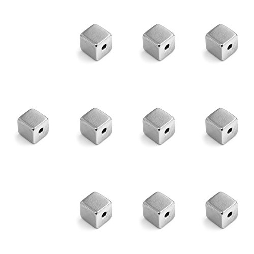 10 Impressart LARGE CUBE Pewter Stamping Blanks, Soft Strike Pewter 3/8'' square, 16 Gauge. Lead, Nickel and Cadmium Free, Made in USA. You Get TEN (10) by ImpressArt