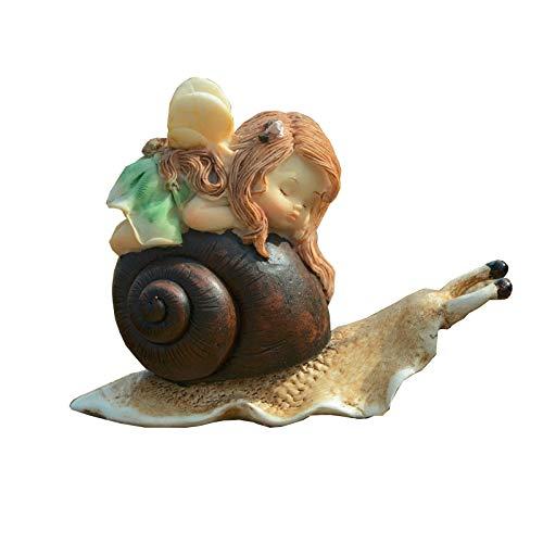 Gemmia Garden Fairy Figurine -Snail Girl Fairy (Fairy Status)