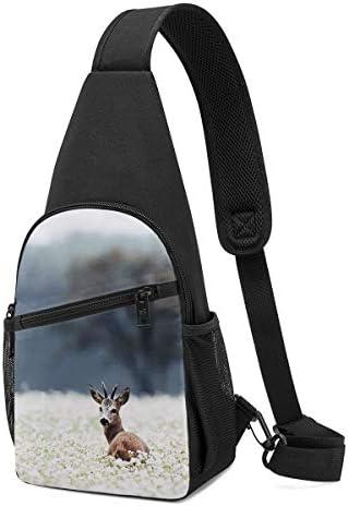 ボディ肩掛け 斜め掛け 森の鹿 ショルダーバッグ ワンショルダーバッグ メンズ 軽量 大容量 多機能レジャーバックパック