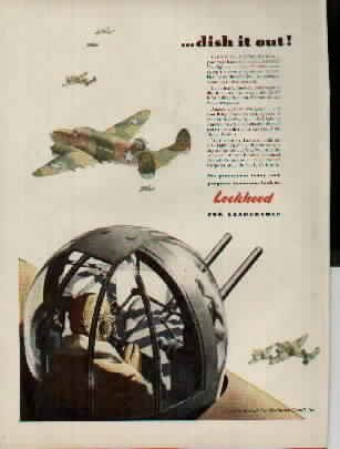 Lockheed Vega Ventura Bombers, dish it out! ..... 1942 Lockheed Aircraft ad, A1075