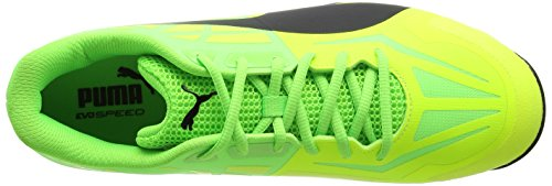 Puma Evospeed 1.5 Spike, Scarpe da Cricket Uomo Giallo (Safety Yellow-puma Black-green Gecko 03)