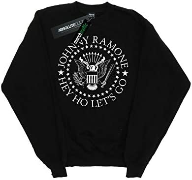 Absolute Cult Johnny Ramone Damen Hey Ho Let's Go Sweatshirt Schwarz Small