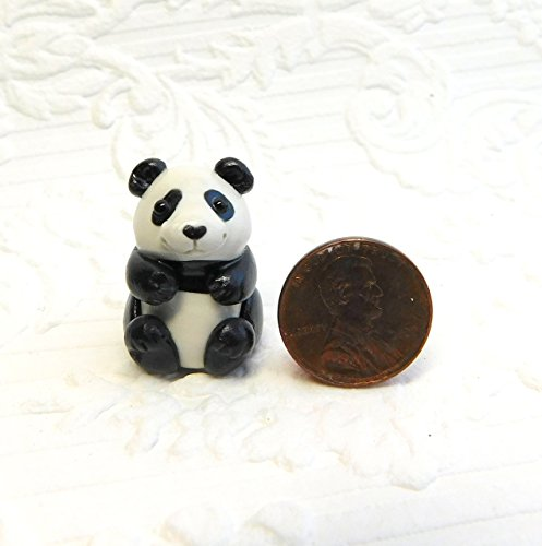 Totem Panda, Panda Bear Totem Sculpture, Panda gift, Panda pocket pal by Raquel at theWRC clay