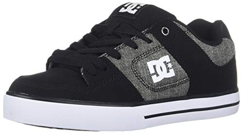(DC Men's Pure SE Skate Shoe, Black, 11.5D M US)