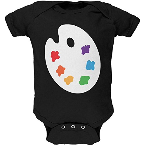 Old Glory Halloween Artist Palette Costume Soft Baby One Piece 3-6 -