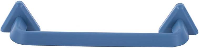 XKXKKE 2Pcs Punch Free Towel Rack Plastic Bath Slipper Shelf Functional Pot Cover Supporter (Blue, S)