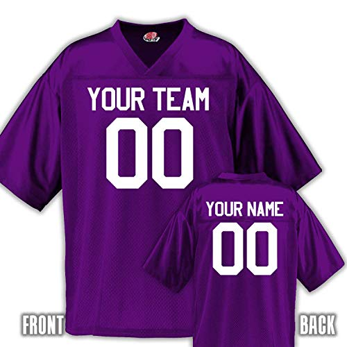 Football Purple Jersey - Custom Football Jersey for Youth and Adult you Design Online in Adult medium in Purple