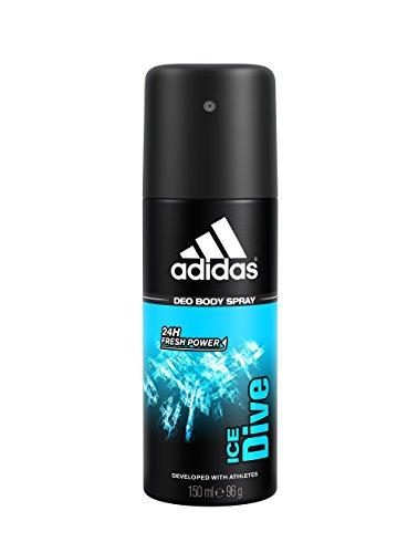 adidas Ice Dive Deodorant Spray for Men, 5 Ounce