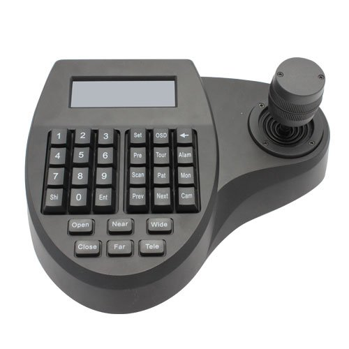 RioRand LCD Security PTZ (Pan Tilt Zoom) Speed Dome Camera 3D Keyboard Controller - Using 3 Axis Joystick to Control the Pan/Tilt Direction and Speed of the Dome Camera. Up to 32 Speed Dome Cameras, 2000 Feet Maximum Distance Communication