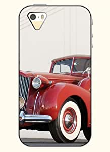 OOFIT Phone Case Design with Red Classic Car for Apple iPhone 5 5s 5g