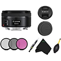 Canon EF Lens for Canon EF - 50mm - F/1.8 Lens Bundle International Version No Warranty