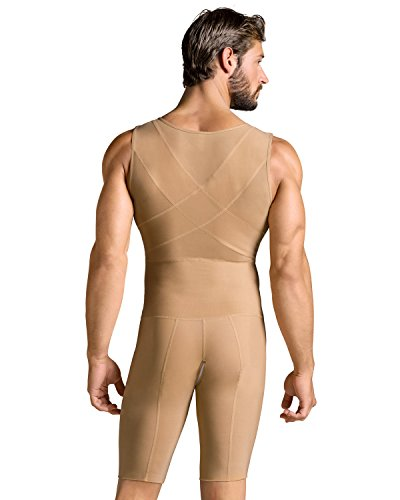 Leo Mens Post-Surgical and Slimming Firm Compression Bodysuit Shaper,Beige,Medium by Leo