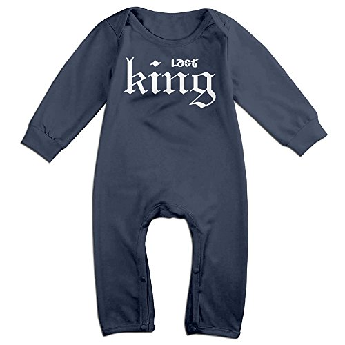 NOXIDN SMWI Baby Infant Romper Last King Long Sleeve Jumpsuit Costume,Navy 18 Months (King Of The Kingdom Boys Costume)