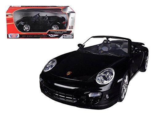 StarSun Depot New Porsche 911 (997) Turbo Convertible Black 1/18 Diecast Car Model by Motormax (Best Tires For Porsche 911 997)