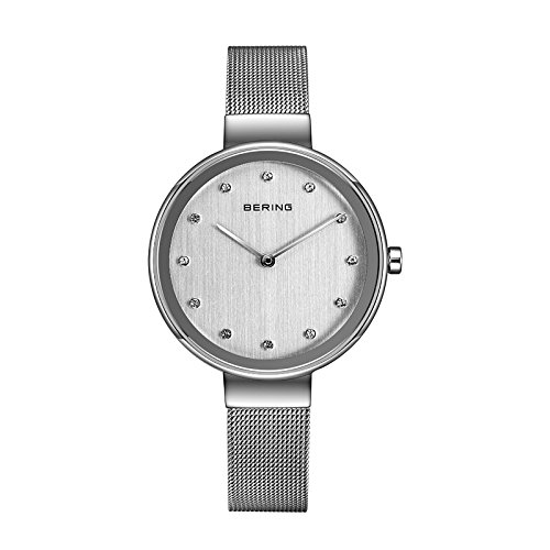 BERING Time 12034-000 Womens Classic Collection Watch with Mesh Band and scratch resistant sapphire crystal. Designed in Denmark.