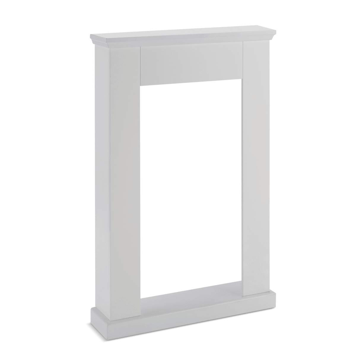 Kaminumrandung Konsole Landhausstil Weiß ca. 70 x 20 x 110, 5 cm Weiß - Grau 5 cm Weiß - Grau PureDay