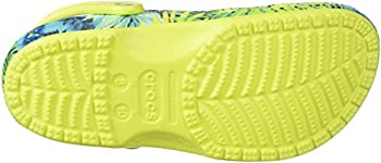 Crocs Unisex Classic Printed Clog Mule, Tennis Ball Greencerulean Blue, 6 Us Men8 Us Women 2