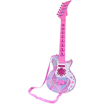 YIFAN Guitar Kids, Beginners Musical Instruments Toy Guitar for Toddler Kids Boys Girls with Sounds and Light Effect(959B Type)