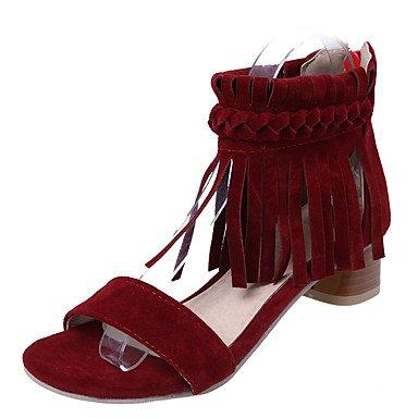 LvYuan Mujer-Tacón Robusto-Otro-Sandalias-Vestido-Semicuero-Negro Rojo Beige beige