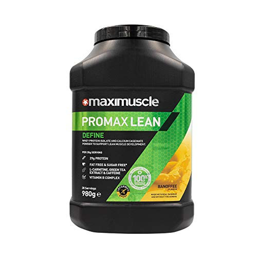 MAXIMUSCLE Promax Lean Protein Powder Banoffee Flavour,980 g