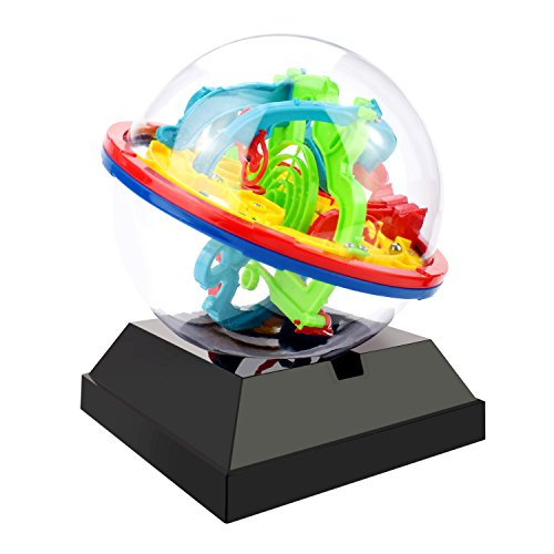 Ball Maze One (JellyDog Intellect 3D UFO Maze Ball, Labyrinth Globe Toys, 100 Challenging Barriers, Best Gift, Magic Puzzle Game Independent Play for Children 7-15 Years)