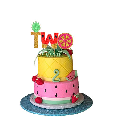 Fruit Cake Birthday - Twotti Fruty Birthday Decorations Cake Topper Twotti Fruitti Second Fruit Pineapple Watermelon Summer Birthday Party Supplies Decorations