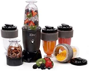 Elite Cuisine 17-Piece Personal Drink Blender with (4) 16-oz Travel