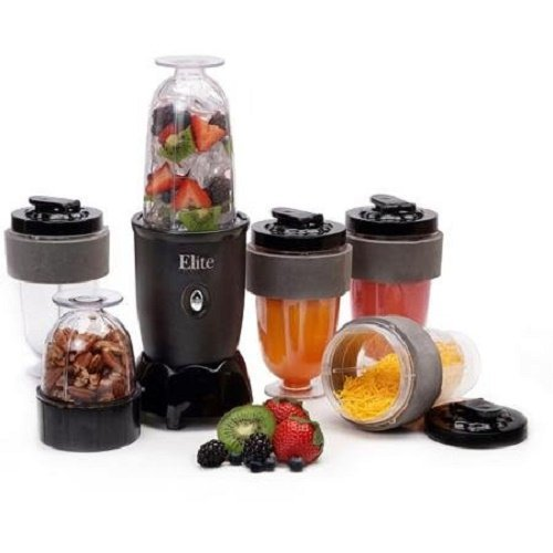 ELITE CUISINE 17-Piece Personal Drink Blender with (4) 16...