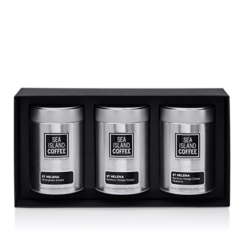 St. Helena Gift Set - Cafetiere Grind (3 x 4.4 Oz Tins) by Sea Island Coffee