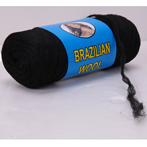 Price comparison product image 100% Brazilian Wool Hair for Braids/Twist/Wraps (Natural Black)