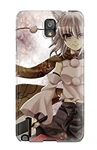 New Snap-on RobertWRay Skin Case Cover Compatible With Galaxy Note 3- Animal Ears Ikeda Hazuki Inubashiri Momiji Scarf Sword Touhou