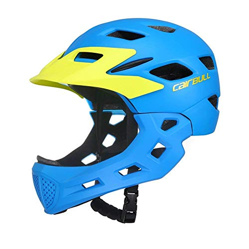 Aiyoyo Kids Bicycle Helmet Full Face Helmet for Bike Motorcycle Children Safety Guard Sports Protective Equipment for Riding Skating ( Blue) by Aiyoyo (Image #1)