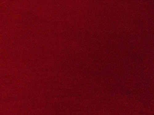 Quality Burgundy 100% Cotton Velvet Velour Fabric for Upholstery/Drapery/Crafts/Costumes Heavy 16oz Weight Thick Curtain Material Sold by The Yard at 54 inch Wide