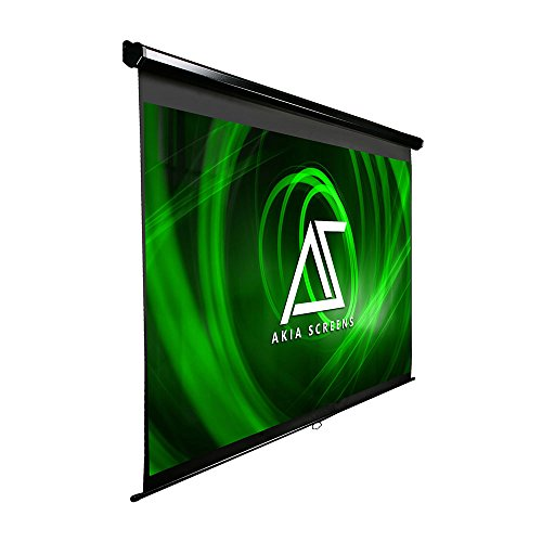 Akia Screens Manual Pull Down Auto Locking System, Home Theater Movie Projection Screen, 4K/8K HD Ready, AK-M80V