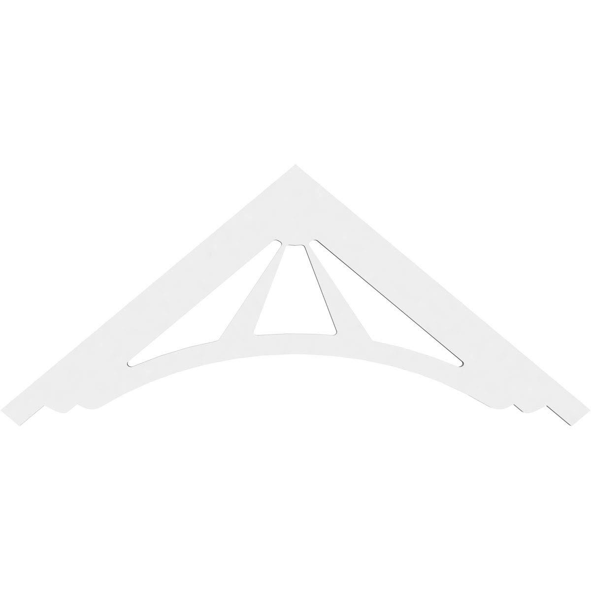 Primed Ekena Millwork GPP036X015X100STA Gable Pediment Pitch 36W x 15H x 1P 10//12