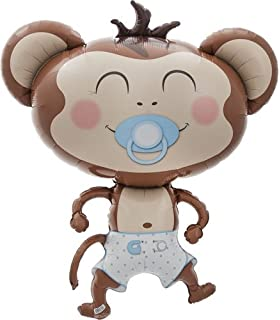 Amazon boy monkey baby shower invitations 8ct kitchen dining baby boy monkey helium foil balloon 41 inch solutioingenieria Images