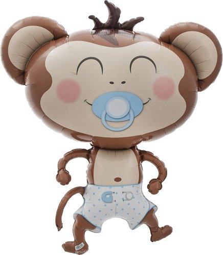 Baby Boy Monkey Helium Foil Balloon - 41 inch -