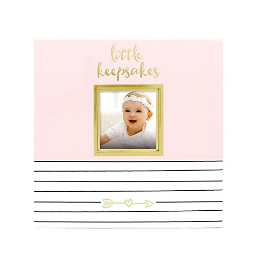 Pearhead Baby Memories Keepsake Box, Pink