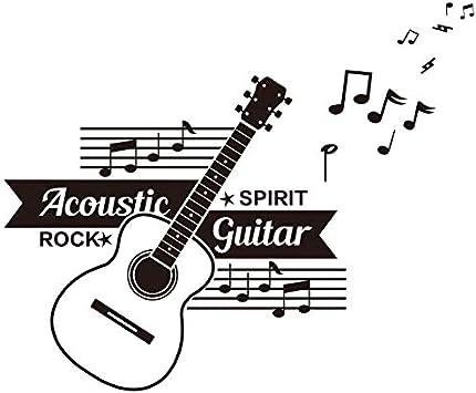 Guitarra música aula diseño pegatinas de pared notas creativas bar ...