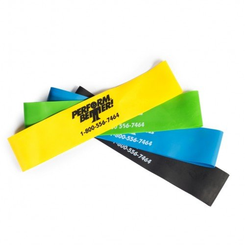 "Perform Better Exercise Mini Band, Set of 4 - All colors 10""x 2"""
