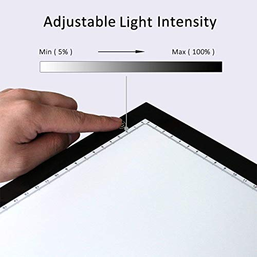 Kenting Magnetic K4M Portable LED Tracing Adjustable Light Pad Light Box Light Table USB Powered Drawing Board Tattoo Pad for Animation, Sketching, Designing, Stenciling X-Ray Viewing, Diamond Paint