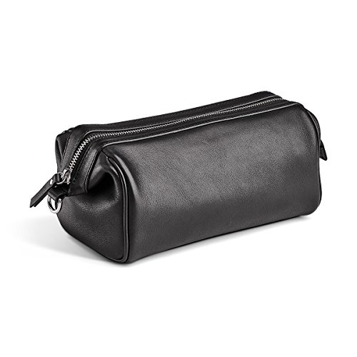 MORAL CODE Leather Dopp Kit Lucas Black Leather One Size ()